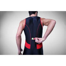 Zone3 Activate Traje Triatlón Hombre, black/red